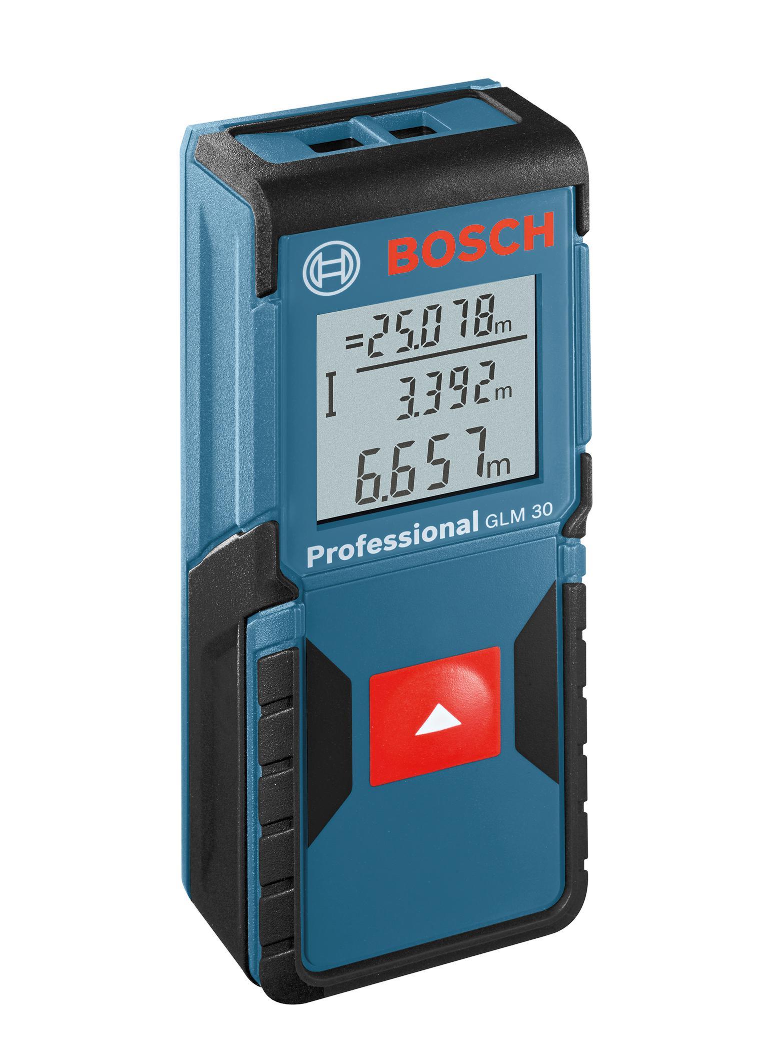 Télémètre Laser Bosch GLM 30 Blue Professional IP54 + ruban mètre 3M offert (avec ODR 20€)