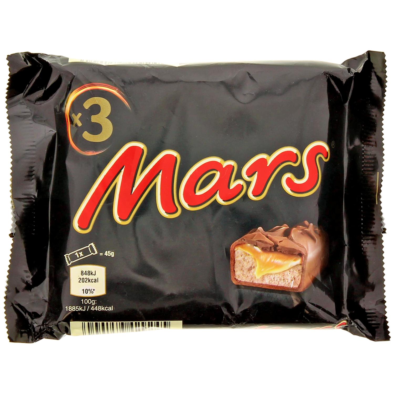 3 barres Mars - 3 x 45 grammes
