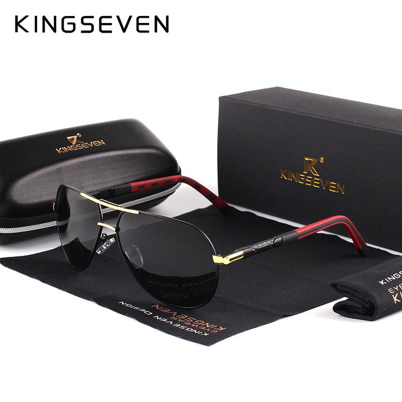 Paire de lunettes de soleil KingSeven Vintage - différents coloris de branches & verres
