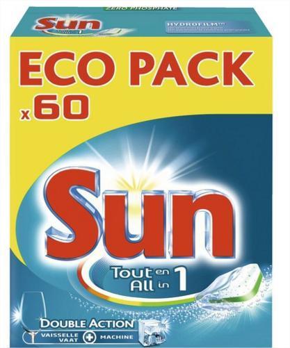 60 Tablettes Sun tout en un (via 70% sur la carte)