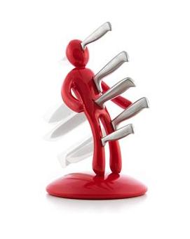 Porte couteaux cuisine Vuduknifes + Set 5 couteaux acier inoxydable (vendeur tiers)