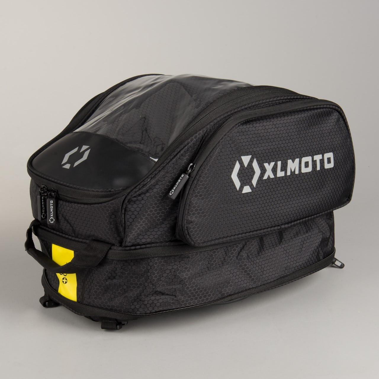 Sacoche de réservoir XLmoto - 20 Litres (extensible jusqu'à 28 litres), poche transparente