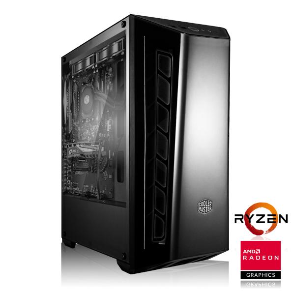 PC de jeu Mid-Range - AMD Ryzen 5 2600, 16 Go DDR4, RX VEGA 56, SSD 240 Go, Sans Windows + World War Z et The Division 2 Gold Edition