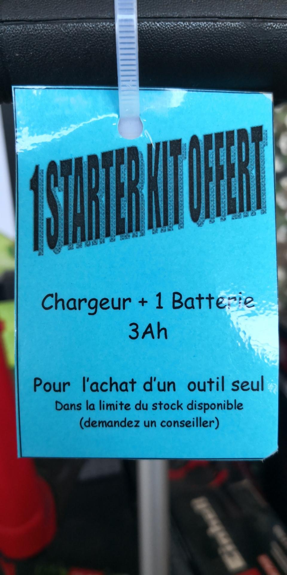 Kit d'accessoires Einhell offert pour l'achat d'un outil (chargeur + batterie 3 Ah ou 2 chargeurs+2 batteries) - Les Briconautes Eaunes (31)