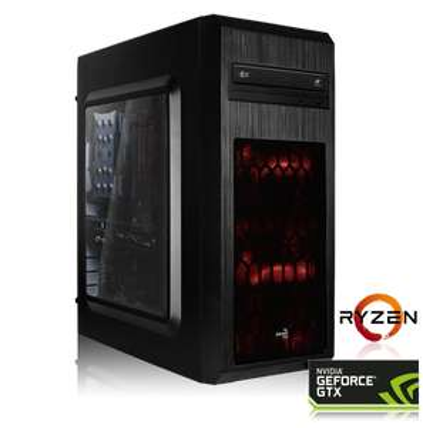 Ordinateur fixe - Ryzen 5-2600 (6x 3.4 GHz), GTX-1060 (6 Go), 16 Go de RAM, 240 Go en SSD + Tom Clancy's The Division 2 & World War Z sur PC