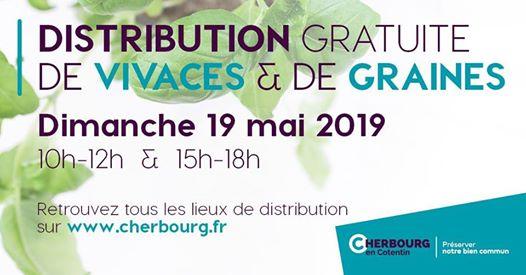 Distribution gratuite de 8000 vivaces aromatiques et des sachets de graines - Cherbourg-en-Contentin (50)