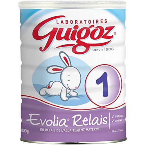 Lot de 3 boîtes de lait infantile en poudre Guigoz Evolia Relais 1 - 800g