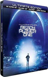 Blu-ray 4K UHD Ready Player One (+ steelbook + Blu-ray 3D + Blu-ray + version numérique)