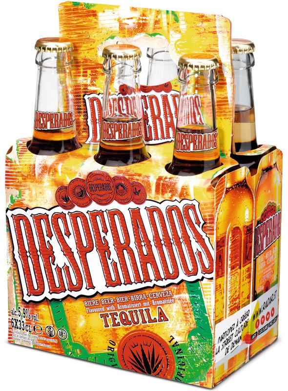 2 Packs de 6 bouteilles de Bière Desperados aromatisé à la Téquilla - 12x33cl