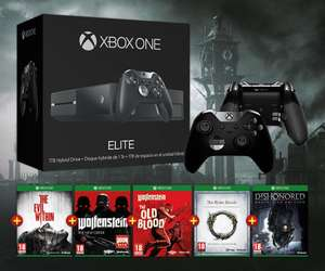 Pack console Xbox One 1To SSHD Elite Limited Edition (1 Manette Elite + 5 Jeux + Housse)