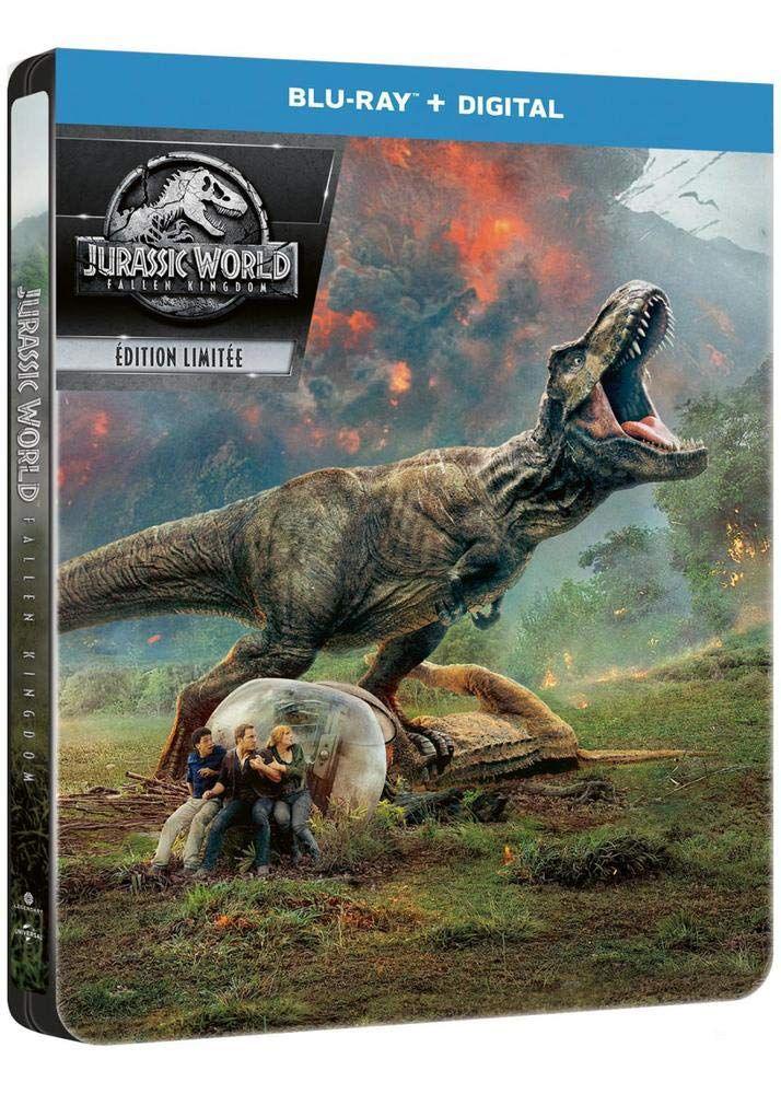 Jurassic World: Fallen Kingdom Digital - Blu-ray 3D + Blu-ray + Digital - Édition boîtier SteelBook