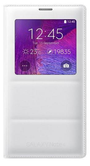 Etui Blanc Samsung S-View pour Samsung Galaxy Note 4
