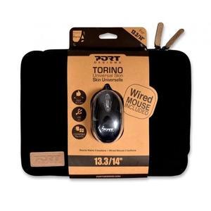 """Housse Ordinateur Portable 13.3/14"""" Port Design + Souris Optique"""