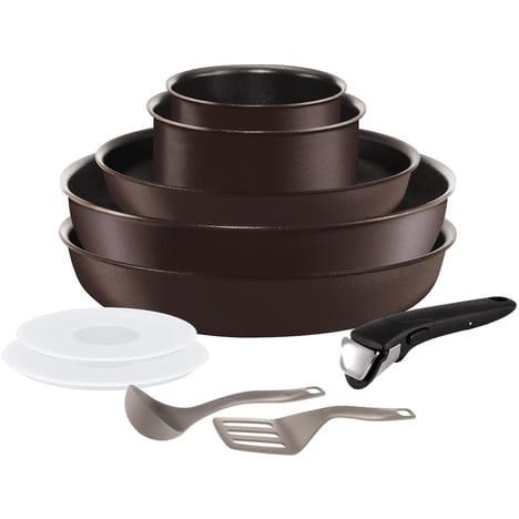 Batterie de cuisine Tefal Ingenio Chef - Induction, 10 pièces (via 7.99€ sur la carte)