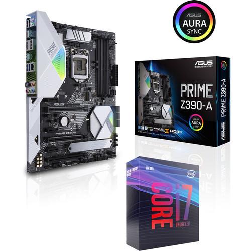 Processeur Intel Core i7 9700K (3.6 GHz) + Carte Mère Asus Prime Z390-A