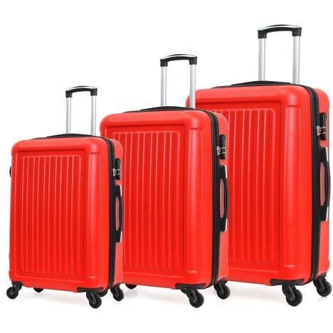 Set de 3 valises Robby à roulettes - Rouges
