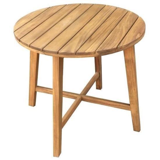 Table d'appoint Finlandek Rauha en bois d'eucalyptus