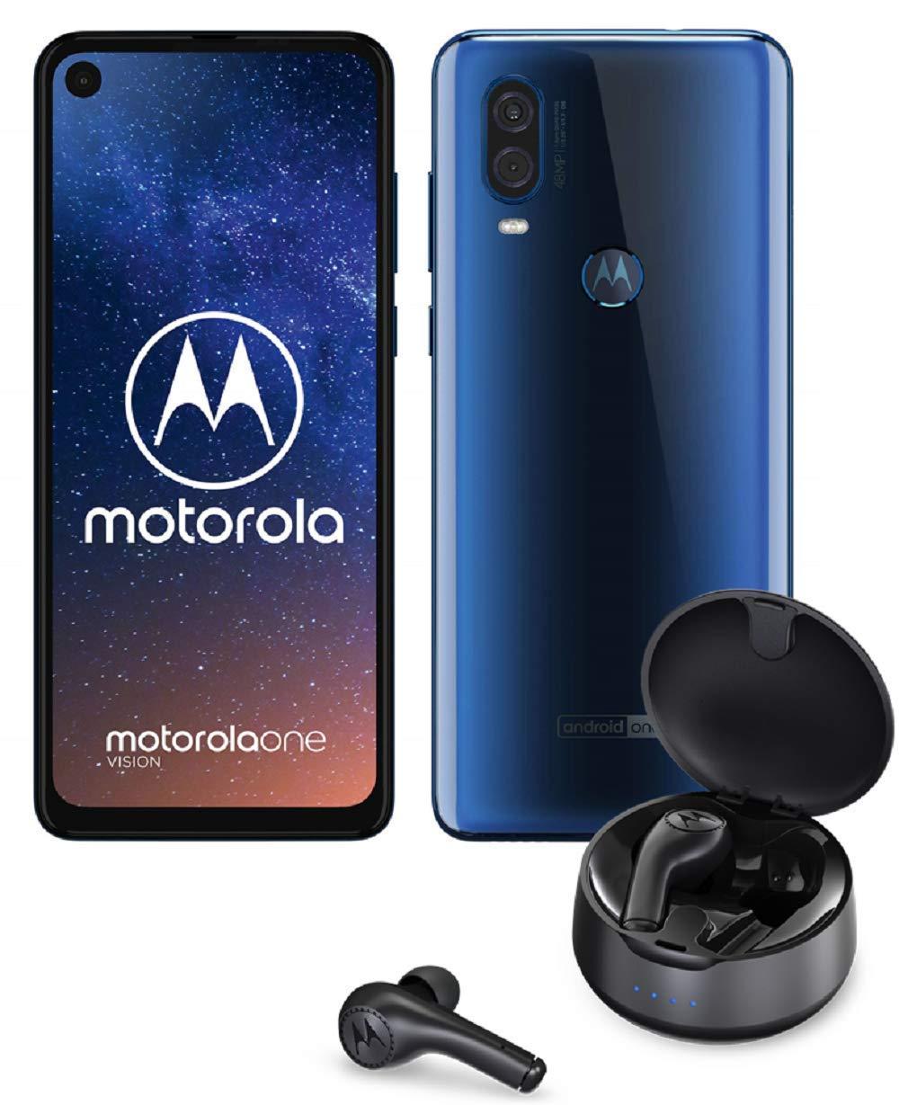 """[Précommande] Smartphone 6.34"""" Motorola One Vision - 128 Go ROM + Écouteurs sans-fil Motorola Verve Buds 500"""