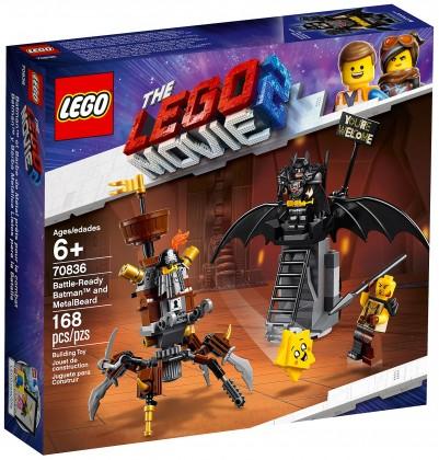 LEGO The Lego Movie 2 Batman en armure de combat et Barbe d'Acier La Grande Aventure LEGO 2 (70836)