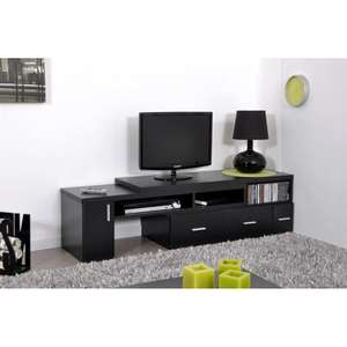 Meuble TV Slide extensible - Noir