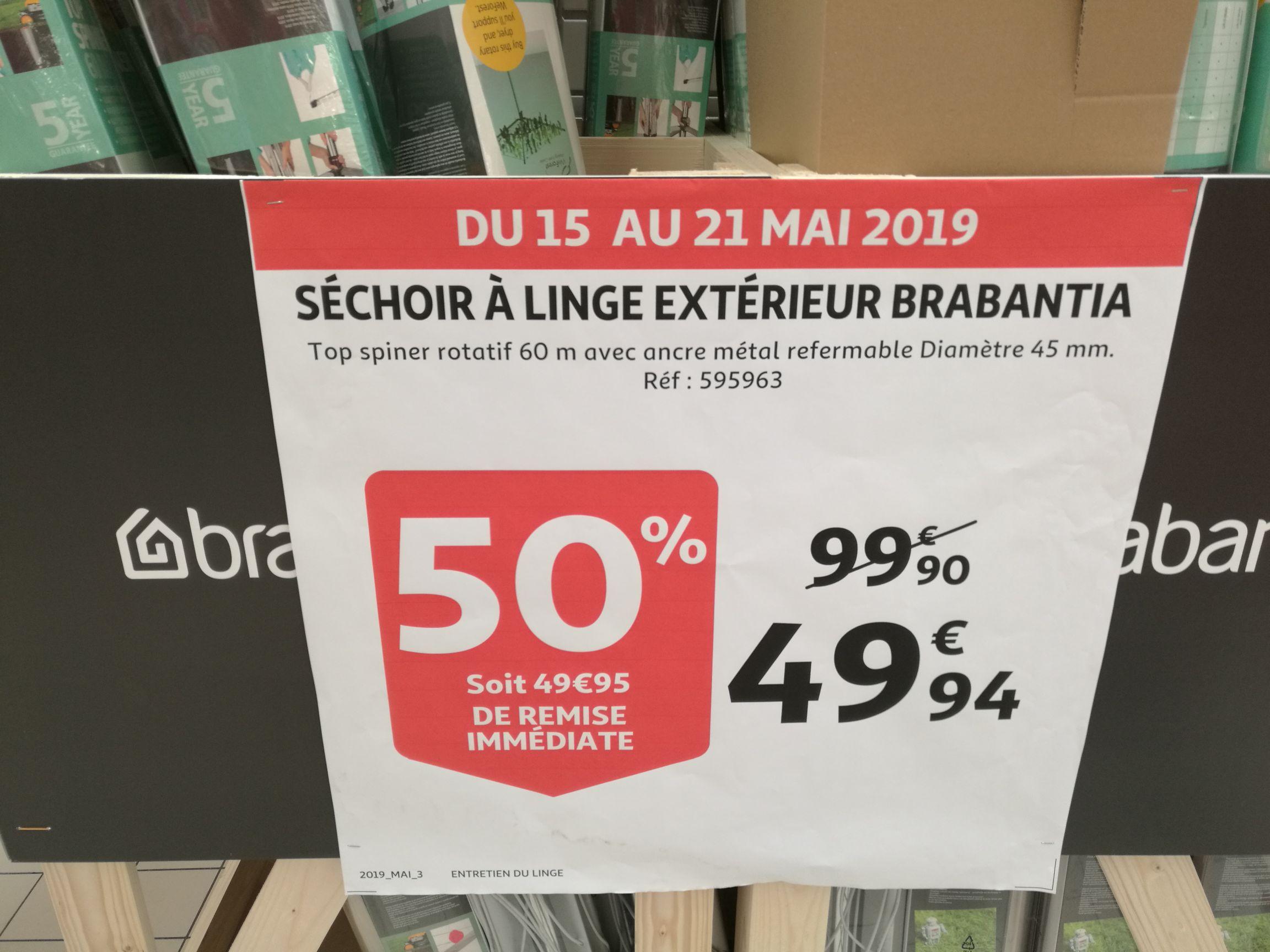 Séchoir à linge extérieur Brabantia 60m - Plaisir (78)