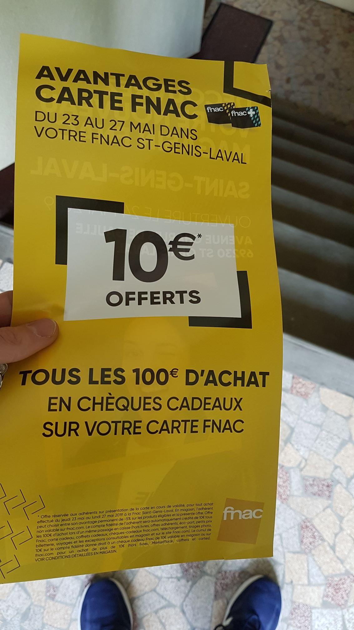 [Adhérents] 10€ offerts sur la carte de fidélité tous les 100€ d'achat (hors livres et exceptions) - Saint-Genis-Laval (69)
