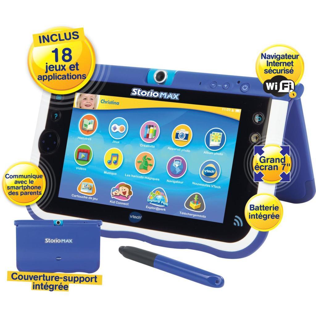 """Tablette 5"""" Vtech Storio Max - Bleue ou rose (Avec 20€ sur la carte U)"""