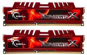 Kit mémoire RAM G.Skill Ripjaws X - 16Go (2 x 8 Go) DDR3,  1600MHz, CL10, Rouge