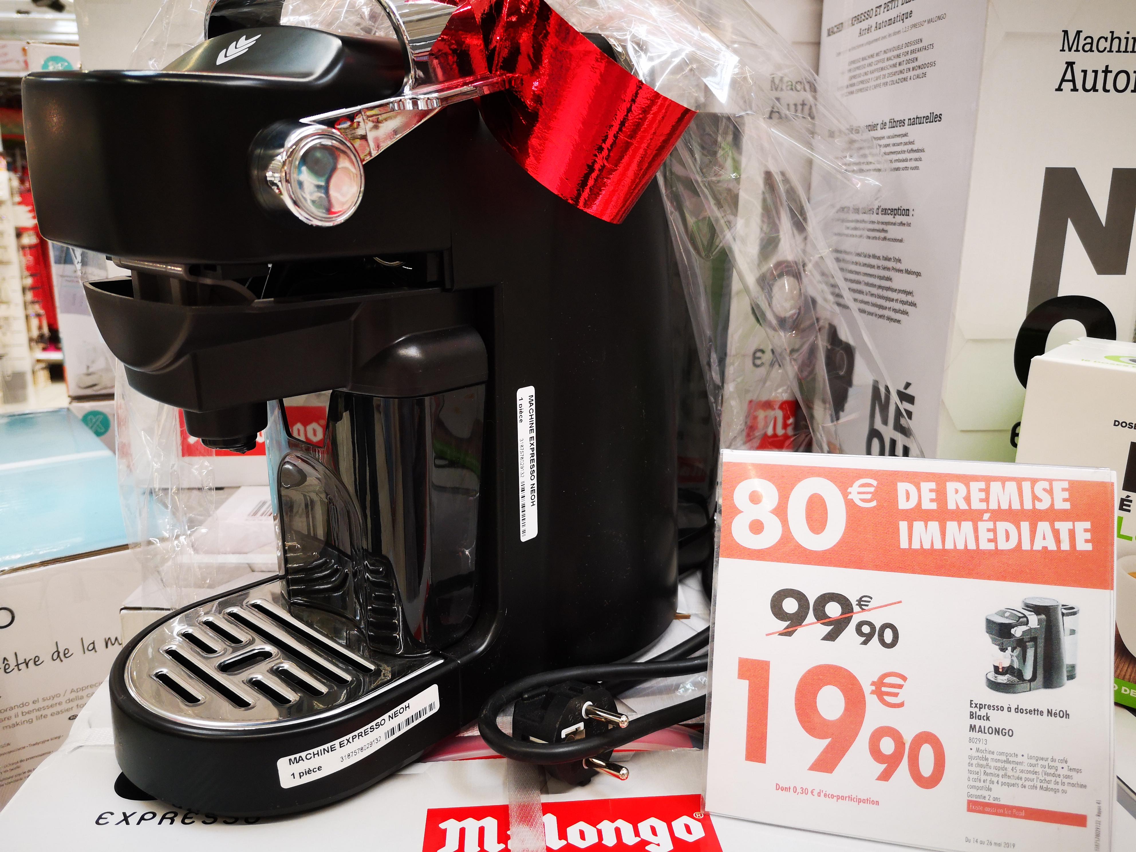 Machine expresso à dosettes Malongo Neoh + 4 packs de 12 dosettes de café compatible  - Givors (69)