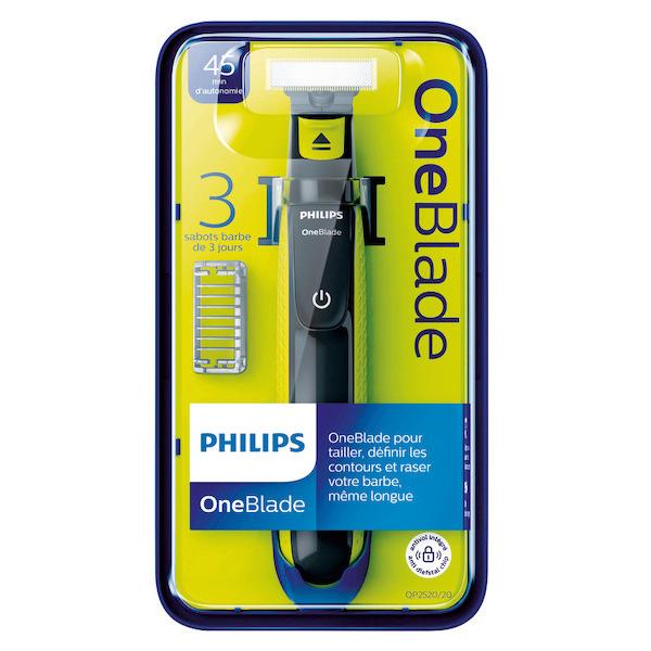 Rasoir Philips One Blade avec 3 sabots clipsables (via 21,42 € sur la carte fidélité + 5€ BA)