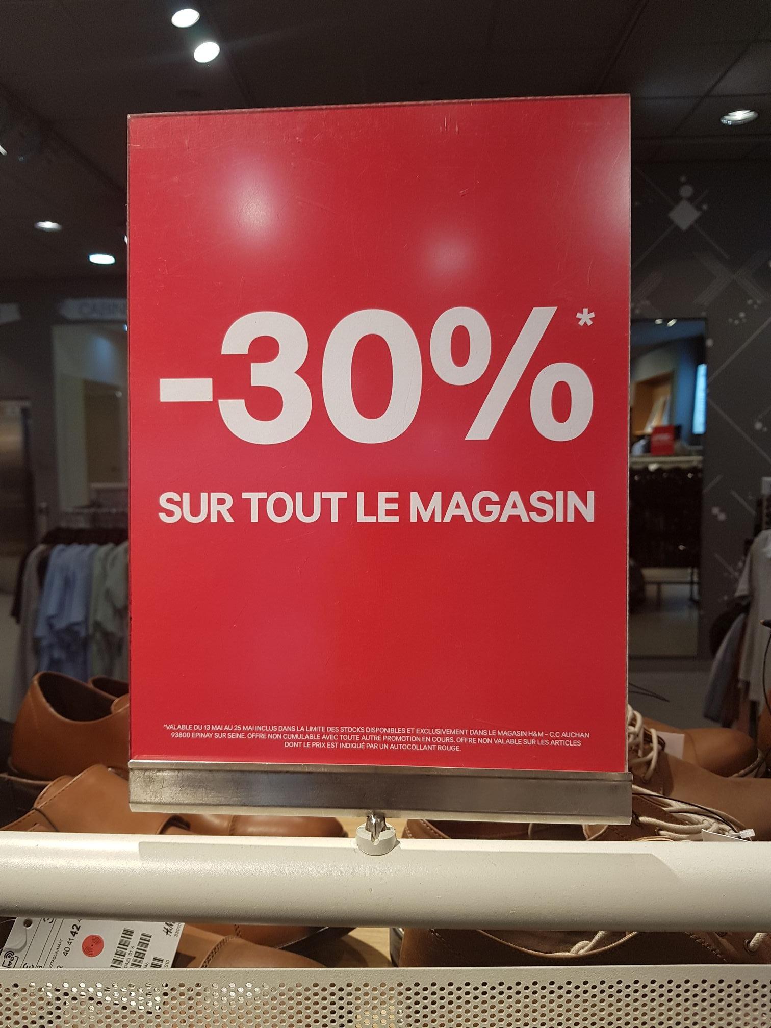 -30% sur tout le magasin - Epinay sur Seine (93)
