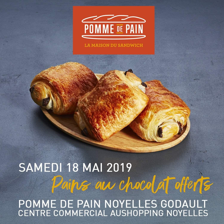500 pains au chocolat offert - Pomme de pain Noyelles Godault (62)
