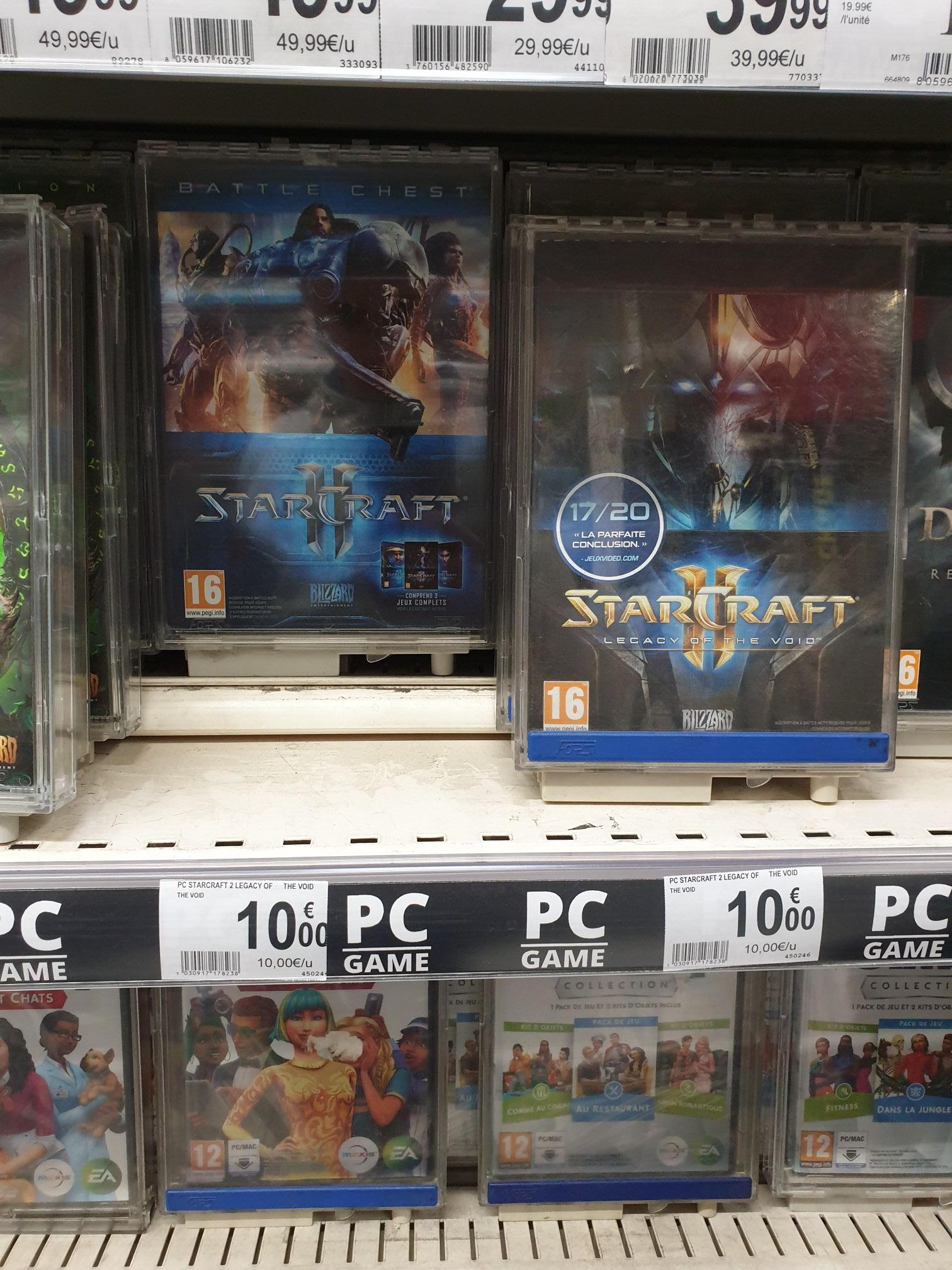 Sélection de jeux Blizzard en promotion - Ex : Jeu Starcraft 2 Battlechest sur PC - Auchan Grande-Synthe (59)