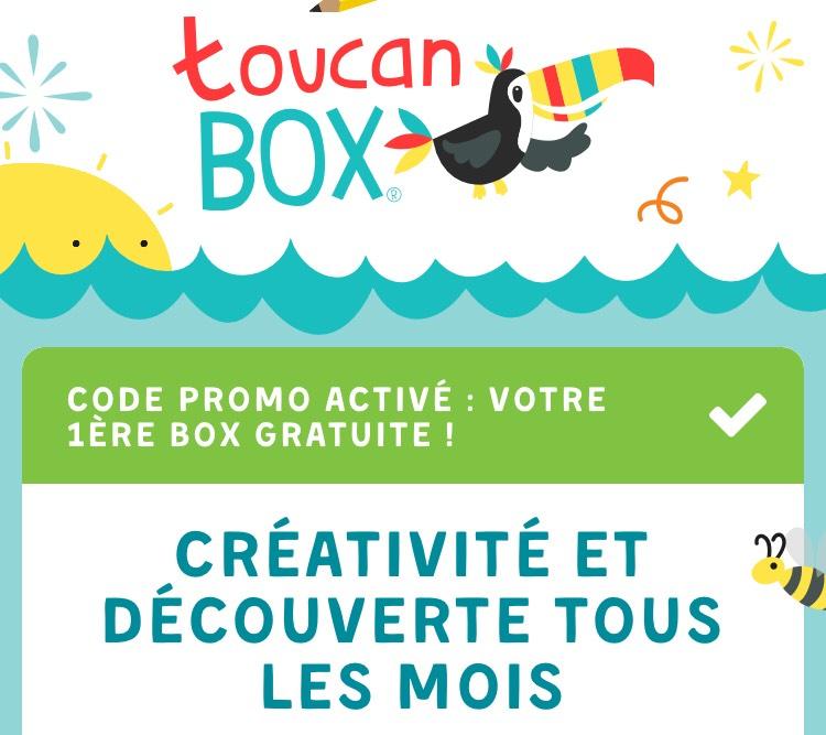 Première Box ToucanBox Créativité et découvertes pour Enfants gratuite (puis 9,95€ par mois - sans engagement - toucanbox.com)