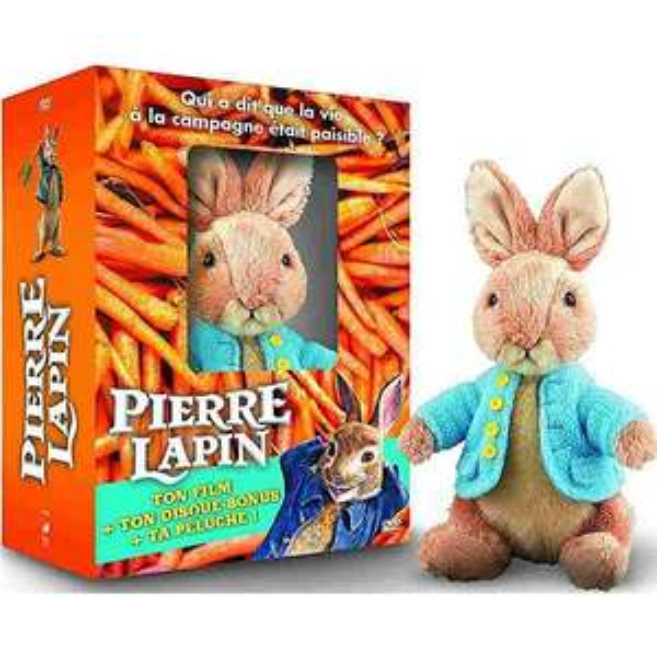 Coffret DVD Pierre Lapin + peluche