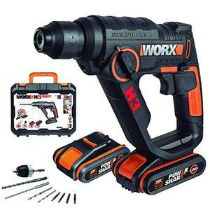 Marteau pneumatique Worx Wx390 + 2 Batteries + Chargeur + Coffret