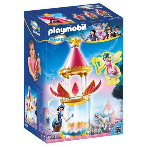 Tourelle musicale Playmobil Super 4 avec étincelle