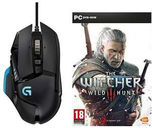 Souris Gaming Logitech G502 Proteus Core  + Jeu The Witcher 3 : Wild Hunt sur PC (version boîte)