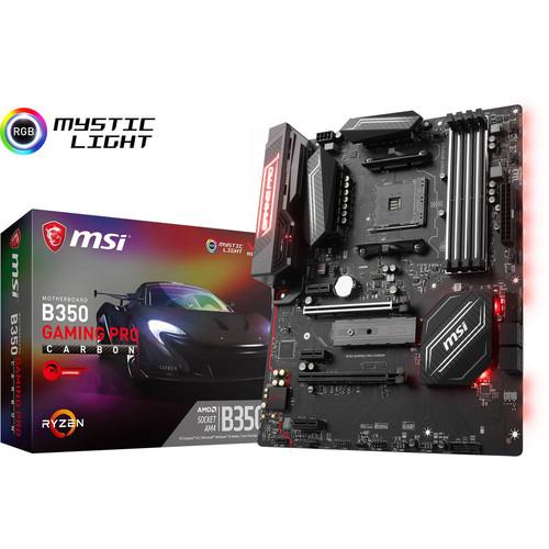 Carte-mère MSI B350 Gaming Pro Carbon