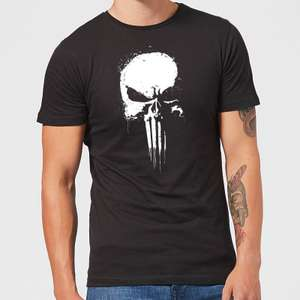 Sélection de T-shirts Marvel officiel en promotion - Ex : The Punisher Paintspray noir