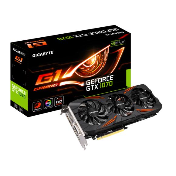 Carte Graphique GIGABYTE GeForce GTX 1070 G1 GAMING - 8 Go + Bundle GeForce Fortnite sur PC