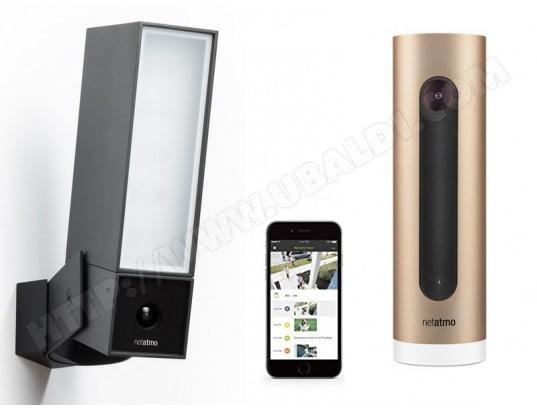 Pack Caméra de surveillance Netatmo  Présence + Welcome en pack (Compatible Google, Alexa, HomeKit)