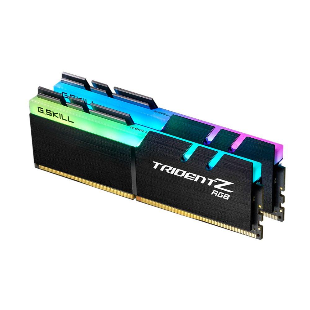 Kit mémoire RAM DDR4 G.Skill Trident Z RGB - 32 Go (2x16 Go) - 3200Mhz, CL 14