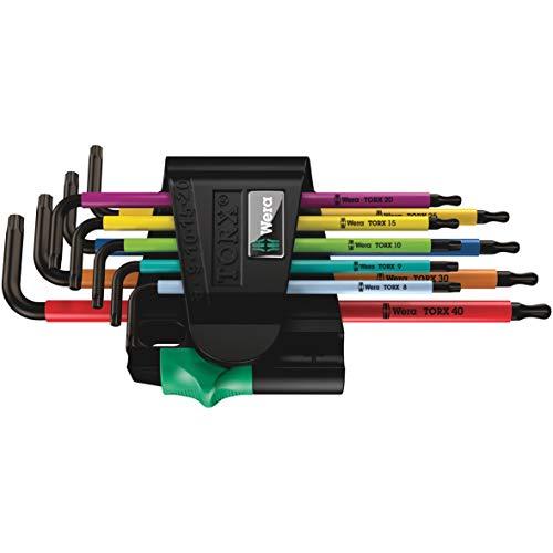 Lot de 9 clés Torx en L Wera 967 SPKL/9 BO (05073599001) - Multicolore