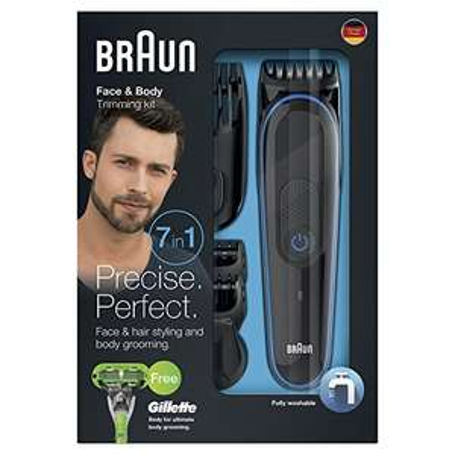 Tondeuse 7 en 1 Braun MGK3042 - Tondeuse Barbe, Cheveux et crop
