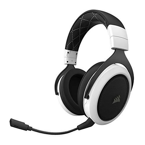 Micro-casque sans fil Corsair HS70 - 7.1 Surround Sound pour PC/PS4, Blanc