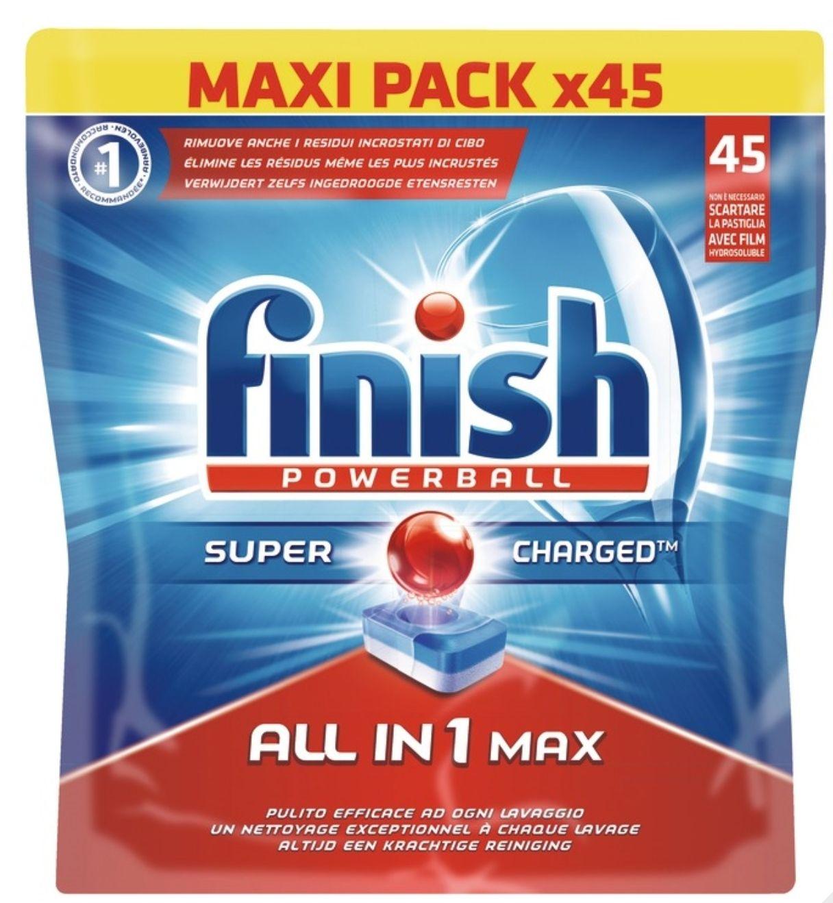 Lot de 2 Paquets de Tablettes Finish Powerball pour Lave-vaisselles (Variétés au choix) - 2 x 45