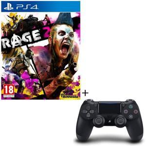 Jeu Rage 2 sur PS4 + Manette PS4 DualShock 4 V2 Noire
