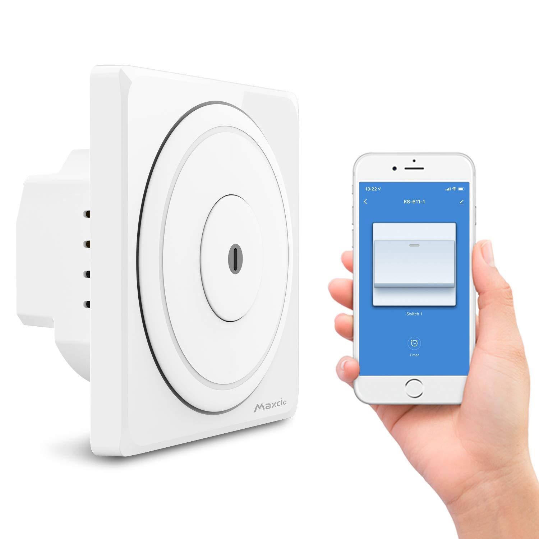 Interrupteur Connecté Maxico (Compatible Amazon Alexa et Google Home) - WiFi (Vendeur tiers - Expédié par Amazon)