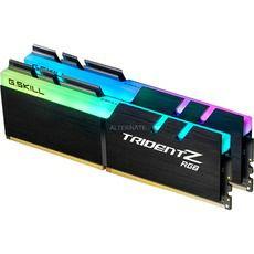 Kit mémoire RAM GSkill Trident Z RGB (F4-3200C16D) - 16Go (2x8Go), DDR4, 3200MHz, CAS16
